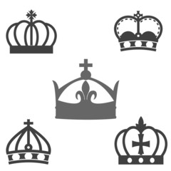 crown silhouette vector collection