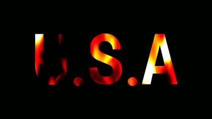 炎 テキスト USA アメリカ