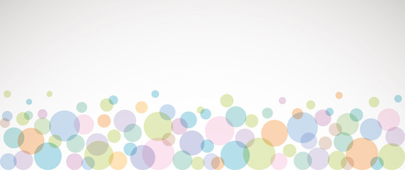 Banner multicolor bolle