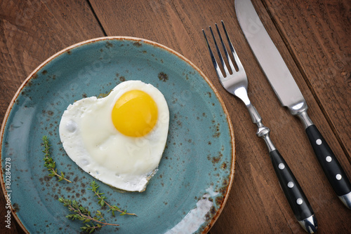 Fotobehang Egg Fried egg