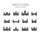 Castle icons set. - 80284609