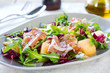 Prosciutto with rocket and cantaloupe salad