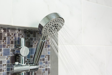 Modern Shower head in bathroom