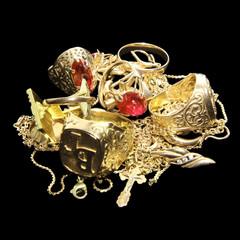 Schatz aus Goldschmuck