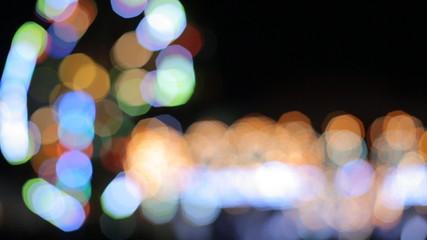 Carousel lights bokeh