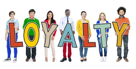 Group of People Standing Holding Loyalty Concept