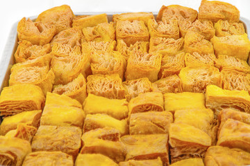 Fried bean curd Yaowarat in thailand