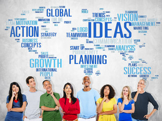 Global People Planning Thinking Creativity Ideas Concept