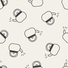 Teapot doodle drawing seamless pattern background