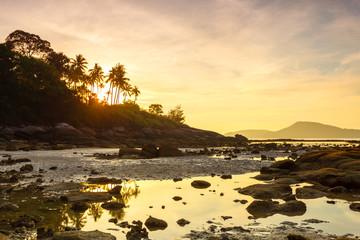 beautiful sunrise at the tropical beach