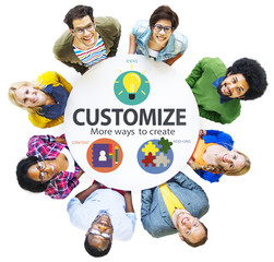 Customize Ideas Identity Individuality Innovation Concept