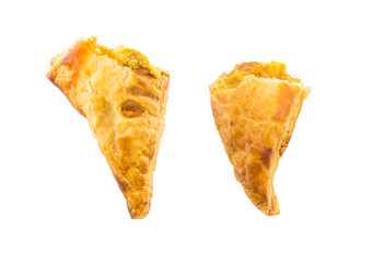 Half of chicken curry puff