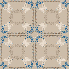 Seamless ornamental pattern decoration elements texture, tile de
