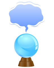 Crystal Ball template vector image