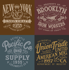 Vintage Workwear Graphics Set