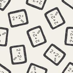 blackboard doodle drawing seamless pattern background