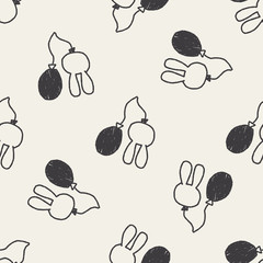balloon doodle drawing seamless pattern background