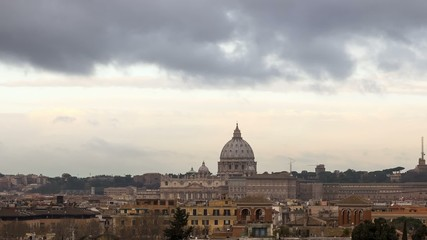The dome of St. Peter's Basilica. Rome, Italy.