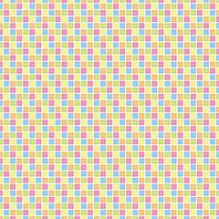 碁盤目の正方形(カラフル)