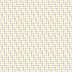 碁盤目の菱形正方形(カラフル)