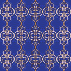 Luxury Traditional Arabic  ornamental  wallpaper pattern .