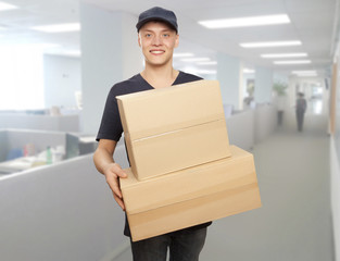 Delivery man portrait