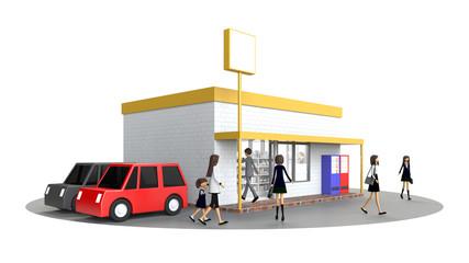人々が集まる小売店