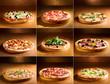 Leinwandbild Motiv pizza collage