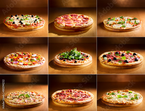 pizza collage - 80294232