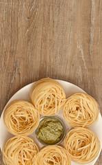 Pasta and Pesto Sauce