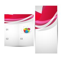 Two-fold business catalog brochure/flyer design .Vector.Eps10