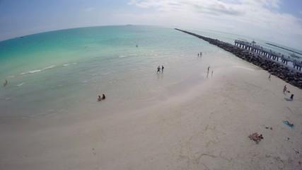 Aerial Miami Beach and South Pointe Pier