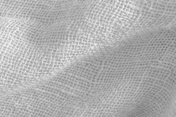 White burlap texture background