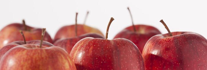 Rote Äpfel, Nahaufnahme, Studio
