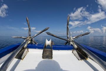 ship anchor on ocean
