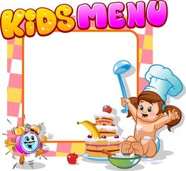children's menu with alarm clock