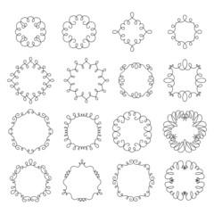 Simple elegant vignette lineart frames.