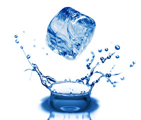 water bubbles in blue