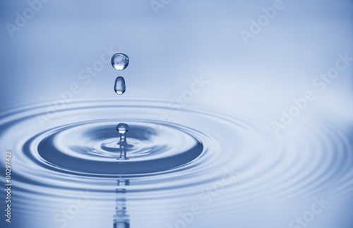water bubbles in blue - 80297423