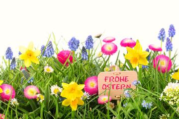 Bunte Blumen - Wiese - Frohe Ostern