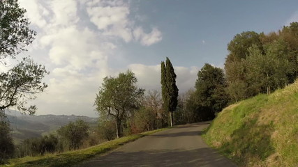 Country road in Tuscany