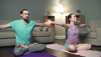 Revolved Lotus Pose