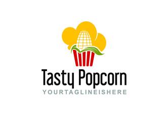 Tasty Popcorn - Logo Template