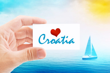 Summer Vacation on Croatia Beach