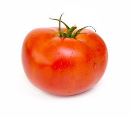 red tomato isolated on white