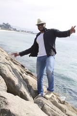 black man on the coast