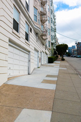 Steep street in San Francisco