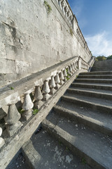 Stone baroque baluster and staircase