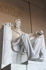 The statue of Abraham Lincoln, Lincoln Memorial, Washington DC.