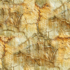 seamless grunge old yellow wall with cracks
